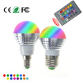 LED RGB Lâmpada do Bulbo E27 E14 AC85-265V 5 W LED RGB Spot Blubs Luz Do Feriado Magia iluminação RGB + IR Controle Remoto 16 cores