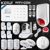 Kerui Wifi GSM Home Security Alarm System ISO Android APP TFT Touch Panel Security Alarm System