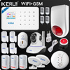 Kerui Wifi GSM Home Security Alarm System ISO Android APP TFT Touch Panel Security Alarm System