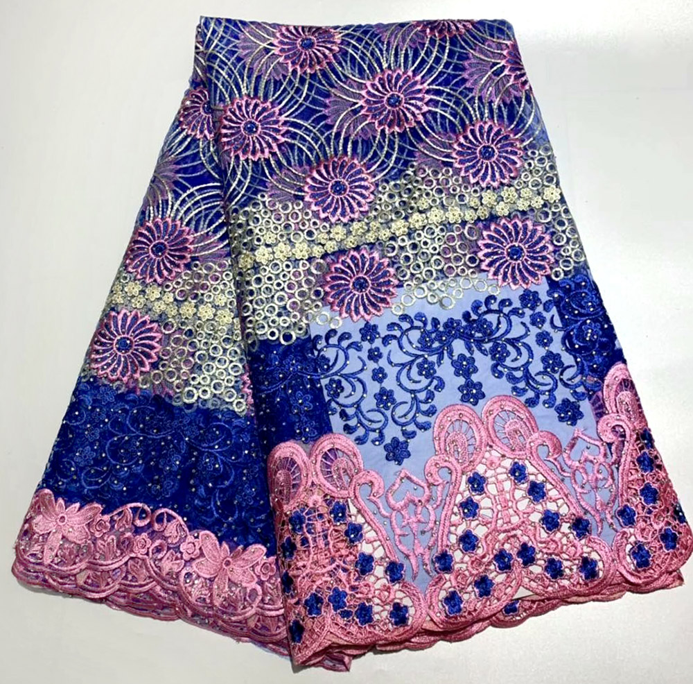 Royal blue French Nigerian Lace Fabric High Quality Tulle African Lace Fabric Wedding African France Tulle Lace With StoneRoyal blue French Nigerian Lace Fabric High Quality Tulle African Lace Fabric Wedding African France Tulle Lace With Stone