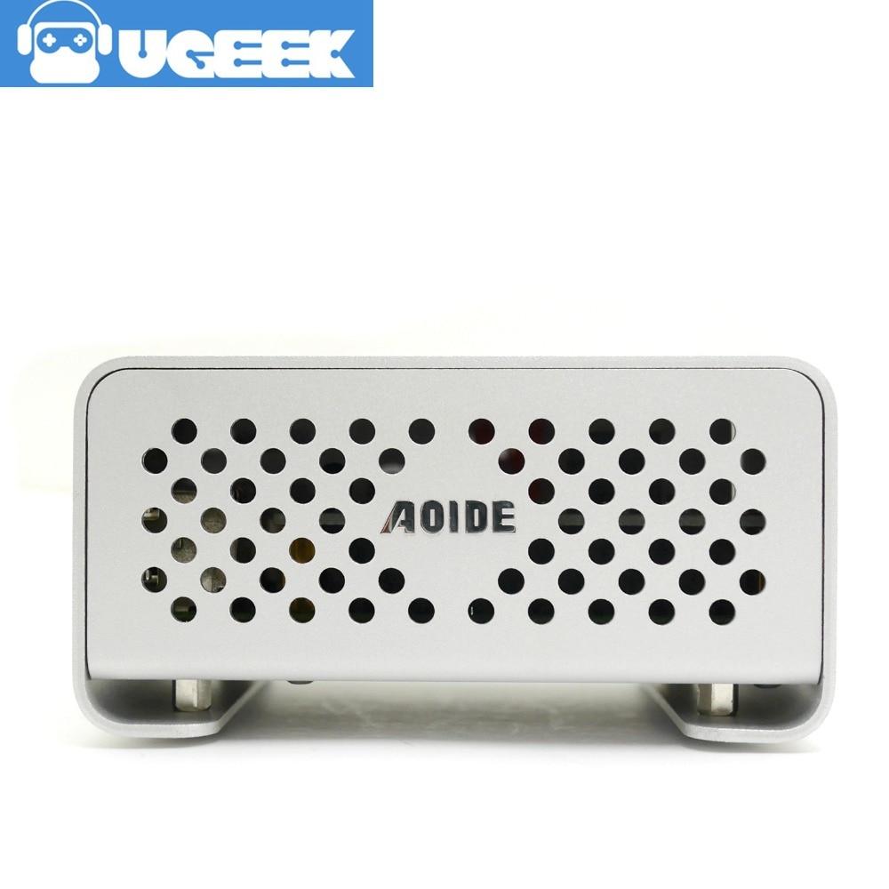 Aluminium Case For UGEEK AOIDE DAC II Work With Raspberry Pi 3 Model B/2B |DIY Your HiFi Player Build With Raspberry Pi!|DACii
