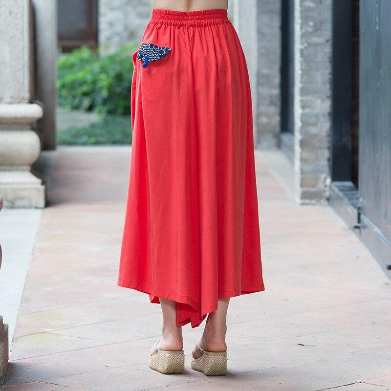 9fd57b5d26 Palazzo Pants Women 2018 Spring Summer Chinese Style Vintage Embroidery  Cotton Linen Wide Leg Pants Women pantalon femme-in Pants & Capris from  Women's ...
