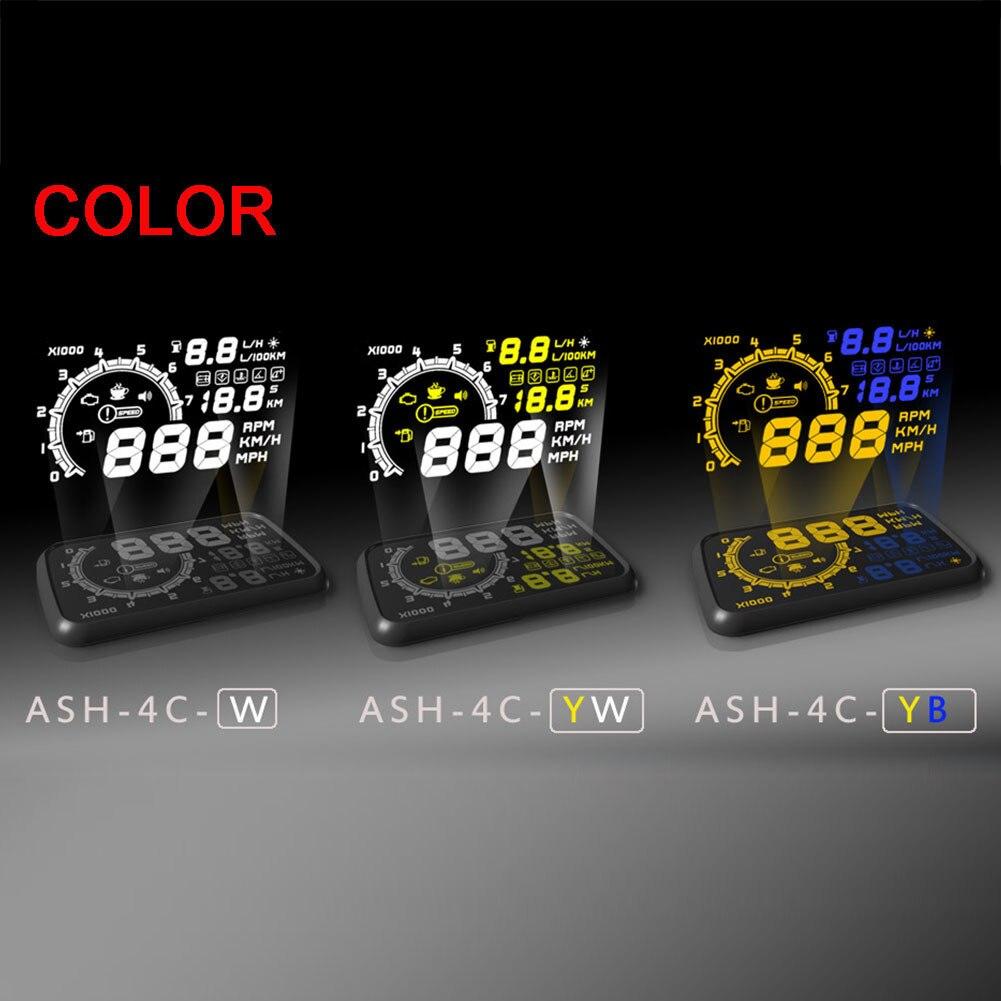 """imágenes para Universal Car Head Up Display 5.5 """"Auto pantalla HUD Puerto OBD2 KM/h MPH OBDII Sobrevelocidad Advertencia Parabrisas Proyector Sistema de Alarma"""