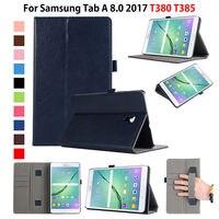 Case For Samsung Galaxy Tab A 8 0 T380 T385 2017 8 0 Inch Cover Funda