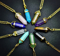Новая Мода ювелирные изделия природного кварца камень бирюзовый агат аметист кулон ожерелье День святого валентина Подарки для девушки женщин N1600