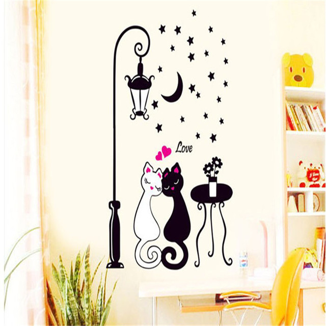 sticker wall stickers on the wall Creative Cat lovers Wall Art Decal Sticker Removable Mural Home Decor