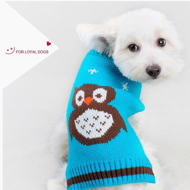 ツ)_/¯Diseño búho suéter de perro invierno caliente del perrito ropa ...
