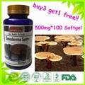LINGZHI REISHI GANODERMA LUCIDUM SPORE CÁPSULA 500 mg * 100 cápsulas de Comprar 3 Get 1 Grátis