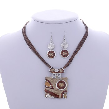 Fashion Geometric Jewelry Sets Jewelry Jewelry Sets Women Jewelry Metal Color: F831