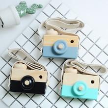 Mini Wood Camera font b toys b font For Baby Children Fashion Clothing Accessory font b