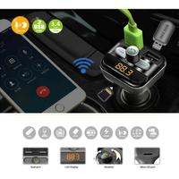 CARPRIE Bluetooth Car Kit FM Transmitter Dual USB Charger Audio MP3 Player LED Display Hands Free