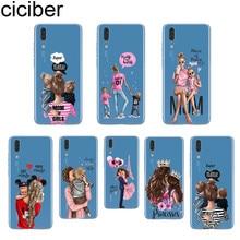 ciciber Fashion Queen Super Mom For Huawei P20 P10 P9 P8 Pro Plus Lite 2017 Soft TPU Silicone Clear Phone Cases Coque Fundas