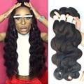 Qingdao Hot Hair Products Peruana Pelo de la Virgen Reina Belleza de la Armadura Co. ltd Peerless Peruana Body Wave 4 Bundles Humano Armadura del pelo