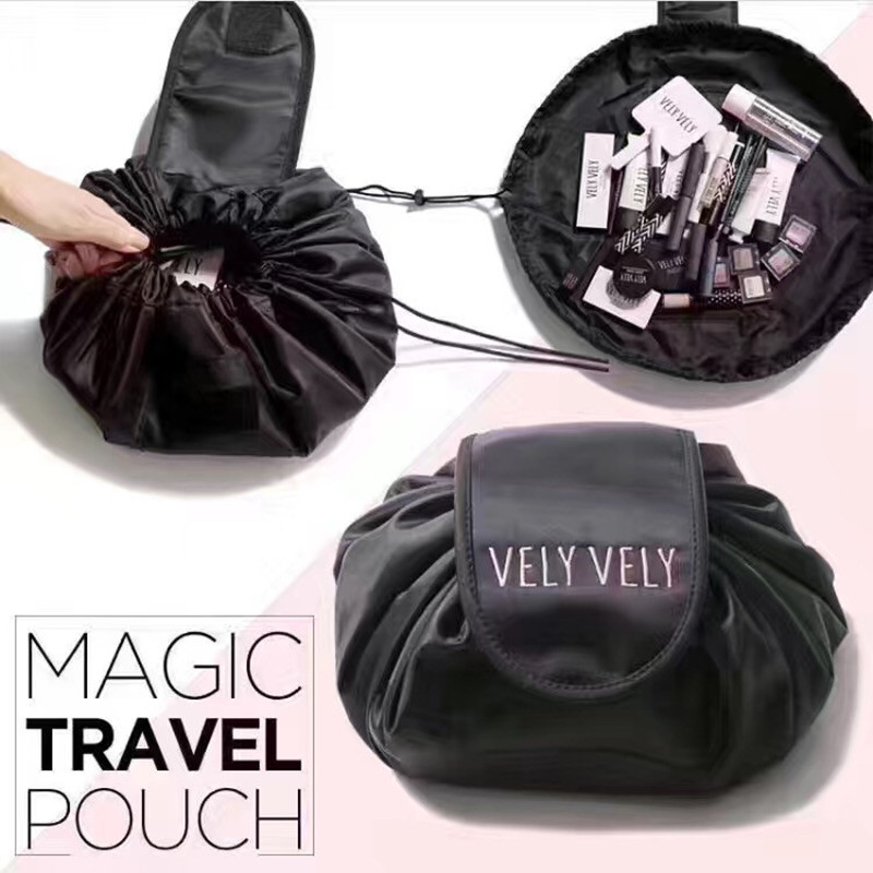 cosmetic travel pouch drawstring cosmetic bag women travel storage lady's string packing bag for cosmetic/Toiletries