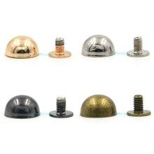 20pcs 12mm Mix 4 Colors Dome Mushroom Rivet Spike Screw Back Leathercraft Spots Metalic Diy Punk