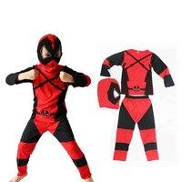 32fef1b177 Kids Deadpool Costume Halloween Costume Deadpool Costume Cosplay 3PCS  Clothing Set For 3 7years Boy