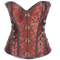 Gothic Steampunk Corsets For Women Lace Up Back Full Steel Boned Waist Trainer Shaper Corset Top
