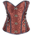 Gothic Steampunk Corsets Women's Lace Up Back Spiral Steel Boned Waist Trainer Shaper bustier Top plus size S-6XL