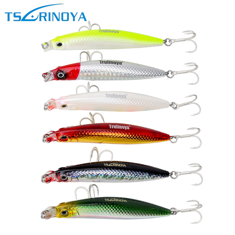 Tsurinoya DW18 Shallow Water Fishing Lure Lipless Minnow 9cm 10g Fishing Wobbler For Bass Fishing