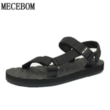 Nueva moda de verano para hombre sandalias casuales roma estilo gancho de bucle zapatos de eva sandalias zapatos negro tamaño 38-44 066