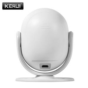 Image 3 - KERUI WP7 efektywne pod względem kosztów bezprzewodowy WiFi włamywacz System alarmowy do domu kontrola aplikacji na podczerwień czujnik ruchu PIR Alarm