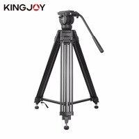 Kingjoy Camera Camcorder Tripod With 360 Fluid Damping Head Heavy Duty DV Video Camera SLR Camera