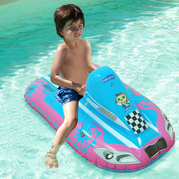 Safe Cartoon Baby Swimming Seat Ring Infant Car Shape Pool Float Inflatable Adjustable Yacht Fishing Boat For Children Water Toy