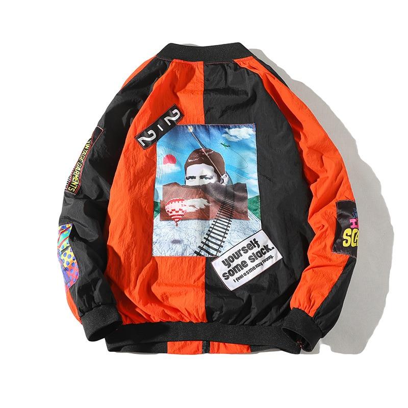 70d8498937d1f Una Reta Jackets Mens 2018 New Hip Hop Brand Thin Tracksuit Coat Fashion  Casual Streetwear Man