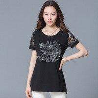 Summer Short Sleeve Woman Loose Printing Cotton T-shirts