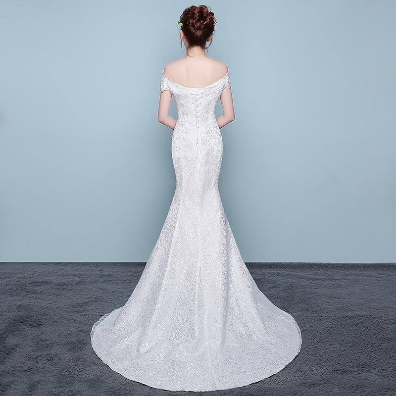 d46c956a013 LAMYA Vintage V Neck Mermaid Bridal Gown Elegant Lace Plus Size Applique  Trumpet Wedding Dresses vestido de festa