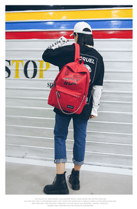 Image 4 - Trend Women Backpack Korea Style Female College Students Back Pack Large Capacity Letter Pattern Printing Girls Knapsack