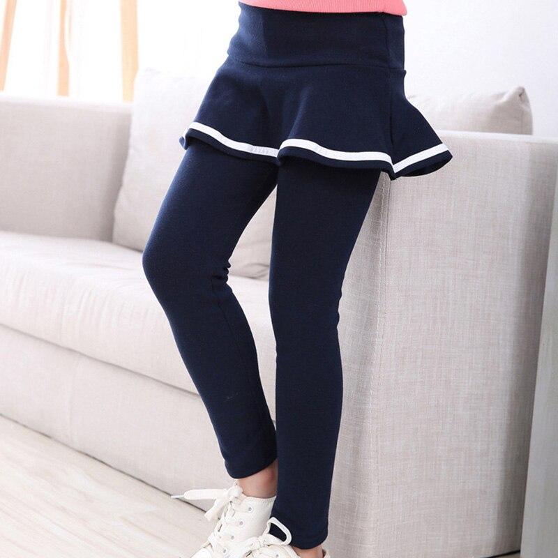 Baby Girls Spring Cotton Soild Leggings Girls Toddler Cute Skirt   Pants   Leggings Skirt Long Leggings Clothes 2-8 Years