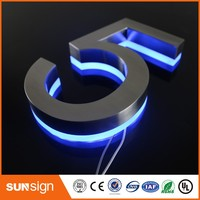 Number 5 LED Illuminated Outdoor & Apartment LED Numbers and company name size H200MM(Custom)
