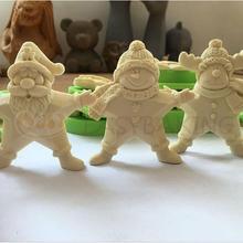 Новое поступление 3 шт Рождественская звезда силиконовая форма стоящий Санта Снеговик рудолф Полимерная глина инструменты для украшения тортов из мастики
