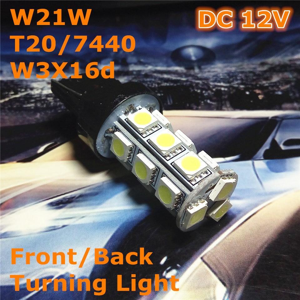 12V LED (18 * 5050SMD) Λαμπτήρας αυτοκινήτου W21W T20 W3X16d / 7440 Ενιαία γραμμή για εμπρόσθιο πίσω φως ανάφλεξης Επιστροφή στο Foglight