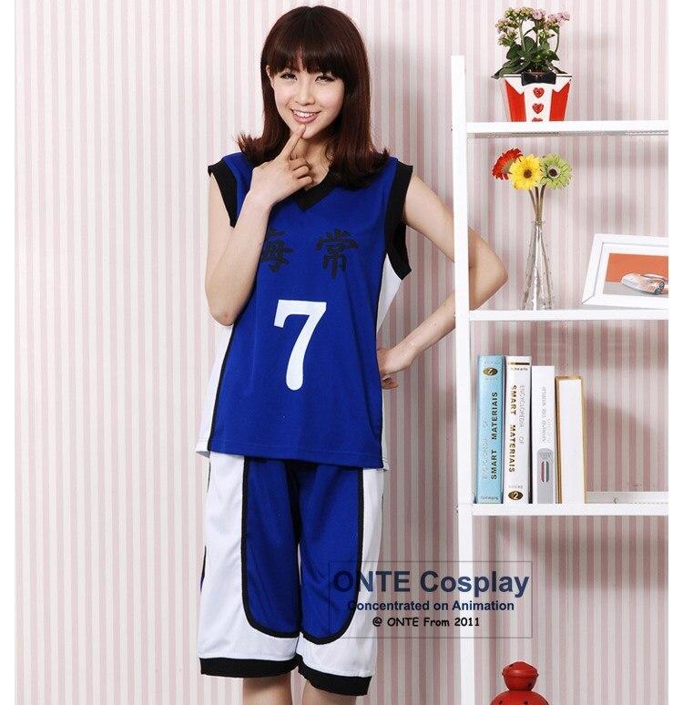 Kuroko no Basuke Cosplay costumes Kise Ryota uniforms clothes number 4 /7/10 Yukio Kasamatsu School Sportwear