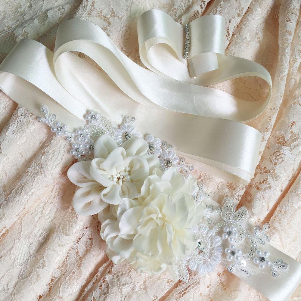 TOPQUEEN FREE SHIPPING S172 Beautiful Flowers Wedding Belts Wedding ...