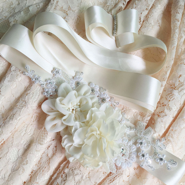 TOPQUEEN FREE SHIPPING S172 Beautiful Flowers Wedding Belts Wedding sashes,Beautiful Flowers Bridal Belts Bridal Sashes.