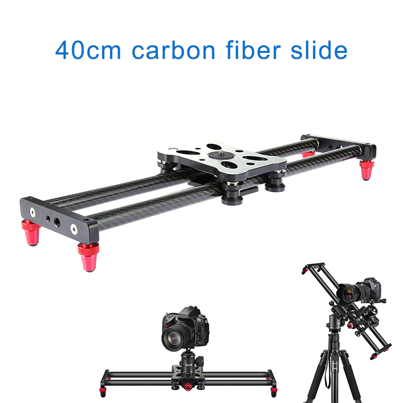 15.7Inch Carbon Fiber Camera Slider Track With 4 Roller Bearing For Video Movie Making GDeals