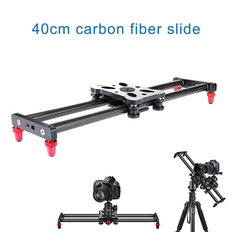 Piste de curseur de caméra en Fiber de carbone de 15.7 pouces avec 4 roulements à rouleaux pour la fabrication de films vidéo