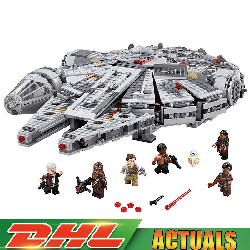 LEPIN 05007 1381 pcs Star War Éveille Millennium Falcon Modèle Blocs de Construction Brique Enfants Jouets Compatible LegoINGlys 75105