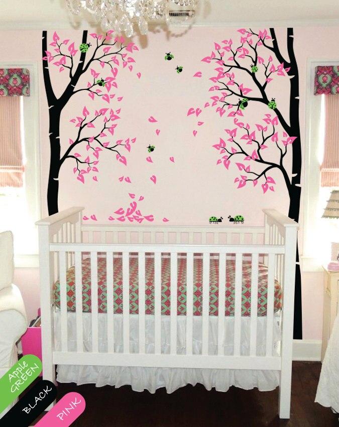 235 см высокий большой дерево настенные наклейки милые божьи коровки листья дерево настенные наклейки для детской комнаты детские настенные...