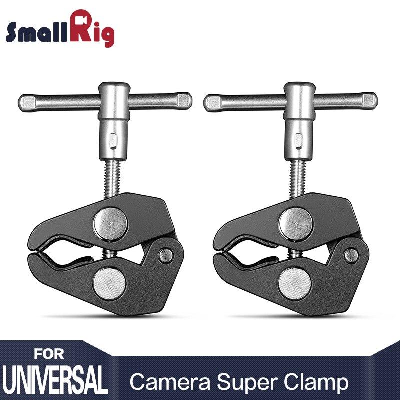 SmallRig Aluminium Legierung Dual Krabben Zange Clip Super Clamp Für DSLR Rig LCD Monitor Studio Licht Magie Arm Kamera