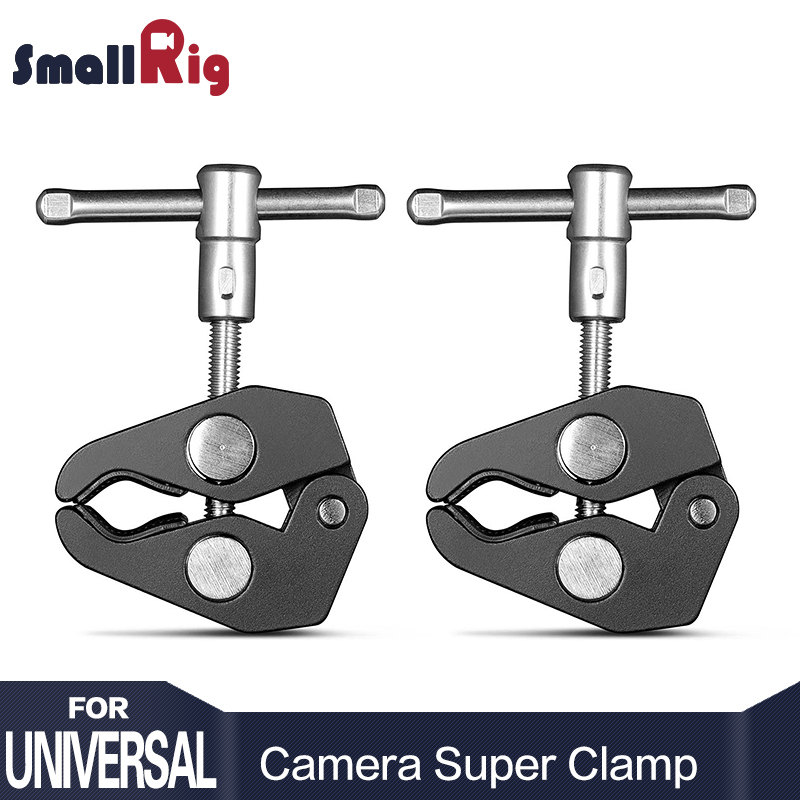 SmallRig Aluminum Alloy Dual Crab Pliers Clip Super Clamp For DSLR Rig LCD Monitor Studio Light Magic Arm CameraSmallRig Aluminum Alloy Dual Crab Pliers Clip Super Clamp For DSLR Rig LCD Monitor Studio Light Magic Arm Camera
