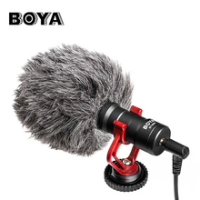 цены BOYA BY-MM1 Professional Recording Microphone With F-Mount Smartphone Video Rig for iPhone X Samsung Nikon DSLR Youtube Vlogging