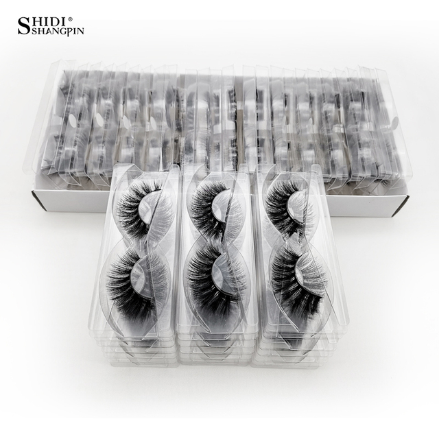 Wholesale Eyelashes 20/40/50/100pcs 3d Mink Lashes Natural Mink Eyelashes Wholesale False Eyelashes Makeup False Lashes In Bulk 3