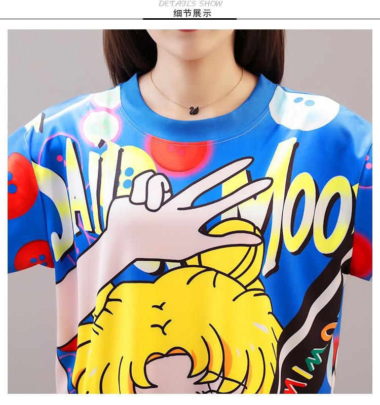 Cool Summer Harajuku Sailor Moon T Shirt Dresses  3