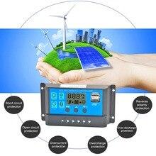 Прочный 40A/50A/60A автоматический Солнечный контроллер заряда с ЖК-USB 50 в выход Солнечная Панель зарядное устройство регулятор tv Home#290030