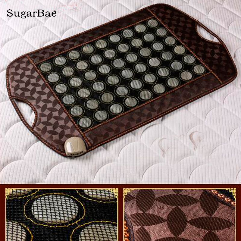 Healthcare Korea Tourmaline Jade Mattress Electric Heating Therapy Mat Pad Cushion For Sale hot sale mattress electric heating jade massager mattress 2016 best selling tourmaline jade mattress for sale