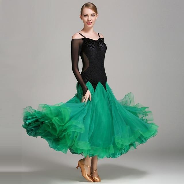L opard standard salle de bal robe pour la danse de salon standard valse viennoise robe robes de - Robe de danse de salon pas cher ...